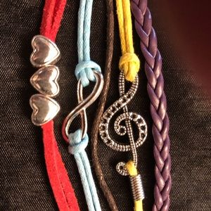 Jewelry - Multicolored Music Themed Friendship Bracelet
